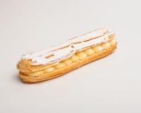 一个小饼用白色巧克力 免版税库存照片