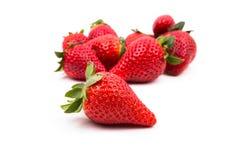 一个小组几个成熟草莓 免版税库存照片