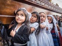 安提瓜岛复活节队伍 免版税库存照片