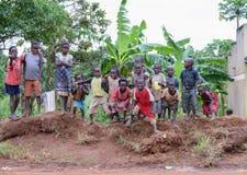 一个小组孩子在乌干达 免版税图库摄影