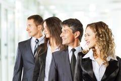 一个小组成功的商人 免版税库存图片