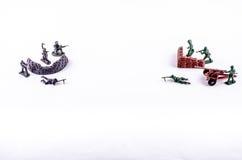 一个小组战士玩具 免版税库存图片