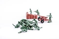 一个小组战士玩具 免版税图库摄影