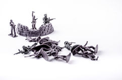 一个小组战士玩具 库存照片