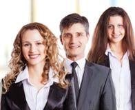 一个小组有吸引力和成功的事务 免版税库存照片