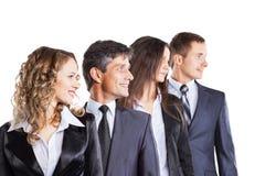 一个小组有吸引力和成功的事务 免版税库存图片