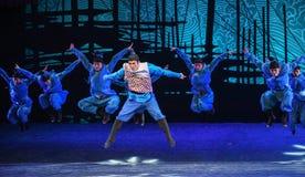 """一个小组海丝绸Road†精力充沛的人舞蹈戏曲""""The梦想  免版税库存图片"""