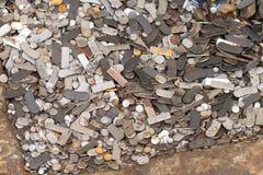 一个小组钢细铁悄 免版税库存图片
