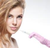 一个少妇的纵向botox射入程序的 库存图片