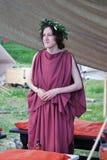 一个少妇的画象历史服装的 图库摄影