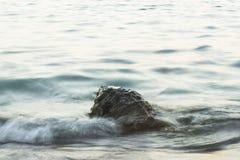 一个岩石到海里 免版税库存照片