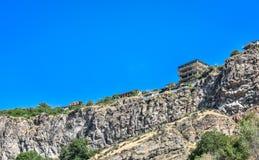 一个岩石的房子在亚美尼亚 库存照片