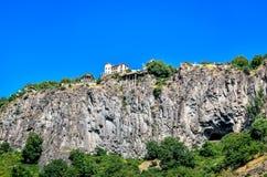 一个岩石的房子在亚美尼亚 免版税库存照片