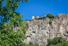 一个岩石的房子在亚美尼亚 免版税库存图片
