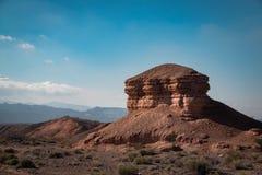 一个岩石的特别形成在米德湖国家公园 库存图片