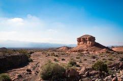 一个岩石的特别形成在米德湖国家公园 免版税库存图片