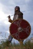 一个岩石的骑士与剑 免版税图库摄影