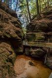 一个峡谷在威斯康辛小山谷 库存照片