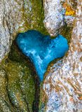一个峡谷的一条河以心脏的形式 免版税库存照片
