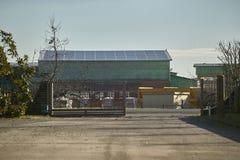一个工业区的全景 免版税图库摄影