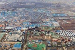 一个工业区的空中射击在中国 库存图片