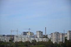 一个工业区的风景在从b的哈尔科夫市 图库摄影