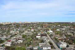 一个工业区的风景在从b的哈尔科夫市 免版税库存图片