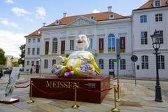 一个巨大的吉祥人在德累斯顿 库存照片
