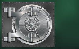 一个巨大的金属圆的安全门 秘密和密码可靠的挽救  图库摄影