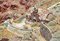 一个希腊教会的废墟 库存图片