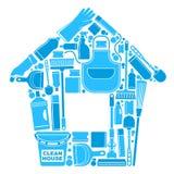 一个干净的房子的标志 免版税库存照片