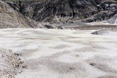 一个干燥沙漠峡谷的底部 库存照片