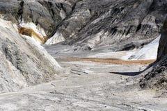 一个干燥沙漠峡谷的底部 库存图片