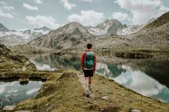 一个平静的山湖在奥地利 免版税图库摄影