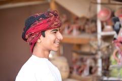 一个年轻阿曼男孩的画象 图库摄影