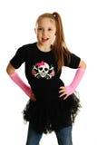 一个庞克摇滚乐女孩的画象 免版税库存图片