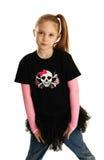 一个庞克摇滚乐女孩的画象 库存照片