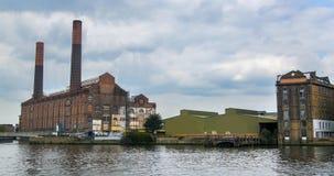 一个废弃的发电站仅仅切尔西,伦敦 免版税库存照片