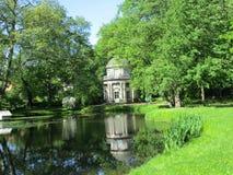 一个庭院在皮尔尼茨,德国 免版税库存照片
