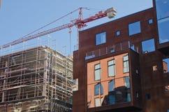 一个建设中大厦 免版税库存图片