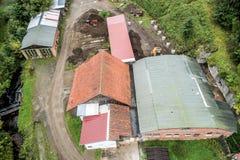 一个建造场所的鸟瞰图整修的老 库存图片