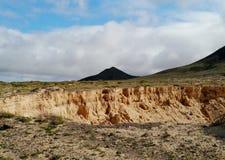 一个开放沙子挖掘坑矿 免版税库存照片