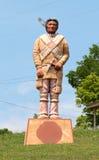 一个当地美洲印第安人的大雕象 图库摄影