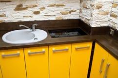 厨房水槽细节 免版税库存图片