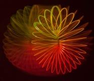 一个彩虹螺旋的抽象在黑背景的 免版税图库摄影