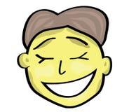 一个微笑的人的例证 免版税库存照片