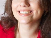 一个微笑的少妇 免版税库存照片