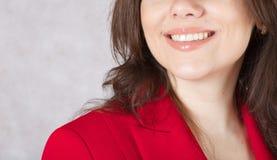 一个微笑的少妇 免版税库存图片