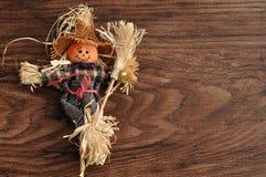 一个微笑的稻草人 免版税库存图片