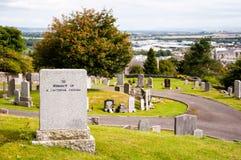 一个忠实的朋友的墓碑 免版税库存图片